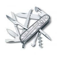 Складной нож Victorinox - Huntsman - 91 мм, 15 функций серебристый прозрачный (1.3713Т7)