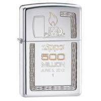 Зажигалка Zippo - 500 Million Limited ED Satin Chrome (28412)