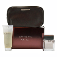 Calvin Klein Euphoria Men -  Набор (туалетная вода 50 + гель для душа 100 + косметичка)