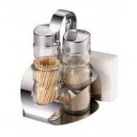 Maestro - Набор для соли, перца, зубочисток, под салфетки Rainbow - 5 предмета (арт. МР1611С)