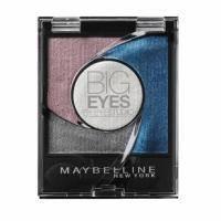 Тени для век 4-цветные компактные стойкие Maybelline - Big Eyes by Eyestudio №03 Мерцающий бирюзово-розовый - 3.75 g