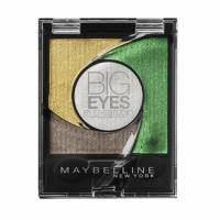 Тени для век 4-цветные компактные стойкие Maybelline - Big Eyes by Eyestudio №02 Мерцающий золотисто-зеленый - 3.75 g