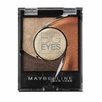 Тени для век 4-цветные компактные стойкие Maybelline - Big Eyes by Eyestudio №01 Мерцающий золотисто-коричневый - 3.75 g