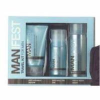 Mades Cosmetics - Manifest с экстрактом спирулины - Набор (скраб для лица 75 ml+сыворотка против морщин 75 ml+бальзам после бритья 150 ml)