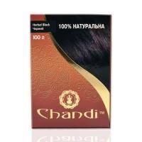 Chandi - Лечебная аюрведическая краска для волос. Черный - 100 г