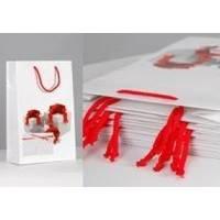 Пакет бумажный Sabona - Подарки на белом - 39x27.5x10