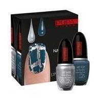 Pupa - Nail Art Kit №920 Silver&Grey Blue - Набор лаков для ногтей (Лак Art Base 02 Серебрянный 5 ml + Лак Art Top 09 Синий 5 ml)