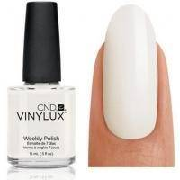 CND Vinylux - Лак для ногтей Cream Puff Ярко-белый, плотный. №108 - 15 ml