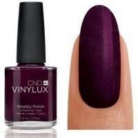 CND Vinylux - Лак для ногтей Dark Lava Тёмный фиолетово-бордовый с микроблестками №110 - 15 ml