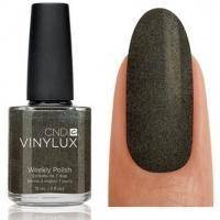 CND Vinylux - Лак для ногтей Night Glimmer Темный, серо-зеленый с серебристымы микроблестками №160 - 15 ml
