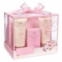 Grace Cole - Набор подарочный Bathing Revival (гель для душа 100 ml + лосьон для тела 100 ml + кристалы для ванны 80 g + косметичка) с ароматом розы