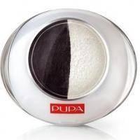 Тени для век 2-цветные запеченные Pupa - Luminys №07 Черный/белый - 2.2 g