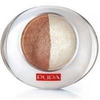 Тени для век 2-цветные запеченные Pupa - Luminys №01 Золотистый песок - 2.2 g