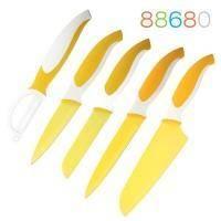 Granchio - Набор ножей и овощечистка 5 предметов желтый (арт. 88680)