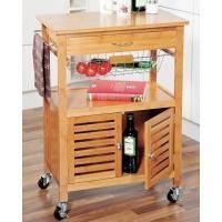 Kesper - Кухонная тележка бамбук со шкафом 60 x 38 x 80 см (арт. 25590)