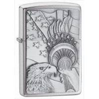 Зажигалка Zippo - Brushed Chrome Something Patriotic (20895)