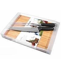Wenger - Набор Ножей кухонных Grand Maitre для мяса нож и вилка с бамбуковой доской (арт. 3.10.244)