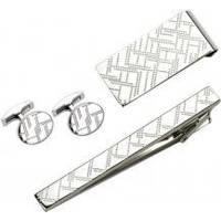S.Quire - Набор (заколка для галстука + запонки + зажим для денег) (EG-16469)