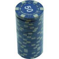Настольная игра - Набор для покера Duke 25 фишек, номинал 50 (арт. MA04)