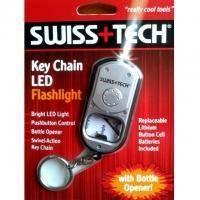 Swiss+Tech - Брелок с фонариком и открывалкой (ST33340ES)