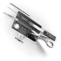 Набор Victorinox - SwissCard - 82 х 54.5 х 4.5 мм, 11 функций полупрозрачный черный (0.7333.T3)