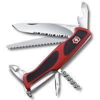 Складной нож Victorinox - Delemont RangerGrip 155 - 130 мм, 12 функций красно-черный (0.9563.WC)