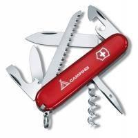 Складной нож Victorinox - Camper - 91 мм, 13 функций красный с логотипом (1.3613.71)