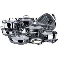 Vinzer -  Набор посуды KITCHEN ART - 14 предметов, термоаккумулирующее дно, стеклянная крышка, (арт. 69029)