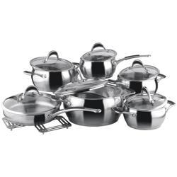 Vinzer -  Набор посуды HARMONY - 14 предметов, термоаккумулирующее дно, стеклянная крышка (арт. 89037)