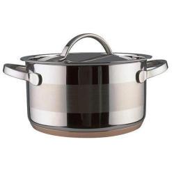 Vinzer -  Кастрюля - нержавеющая сталь, диаметр 20см, 3,7л , медное дно (арт. 69087)