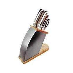 Vinzer -  Набор ножей ICEBERG - 7 предметов, стальная ручка, стальная подставка (арт. 89110)