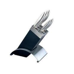 Vinzer - Набор ножей Hawk - 6 предметов, стальная ручка, подставка комбинированная дерево - нерж, cталь (арт. 89118)