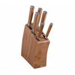 Vinzer -  Набор ножей Bamboo - 7 предметов, ручки и подставка из бамбука (арт. 69126)