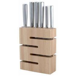 Vinzer -  Набор ножей Labyrinth - 7 предметов, стальная ручка, подставка из дерева (арт. 69128)