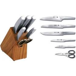 Vinzer -  Набор ножей Hunter - 7 предметов, стальная ручка, подставка из дерева (арт. 69131)
