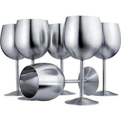 Vinzer -  Набор бокалов для вина - 6 шт,, нержавеющая сталь (арт. 69230)