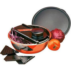 Vinzer -  Салатница с теркой - ножи из нерж, стали, салатница из нерж, стали, держатель, 4 в 1 (арт. 69273)