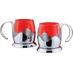 Vinzer -  Набор из двух чашек - нержавеющая сталь, стекло Pyrex, 150 мл (арт. 69365)