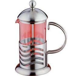 Vinzer -  Кофейник/Заварник Wave - нержавеющая сталь, стекло Pyrex, 350 мл (арт. 69369)