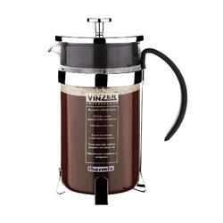 Vinzer - Кофейник / Заварник для чая - стекло Thermix, нержавеющая сталь, 1000 мл (арт. 89381)