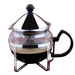 Vinzer -  Заварник для чая - стекло Thermix, нержавеющая сталь, ситечко, 600 мл (арт. 69397)